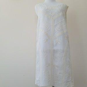 Tops - Cream boho style lace tank top/tunic